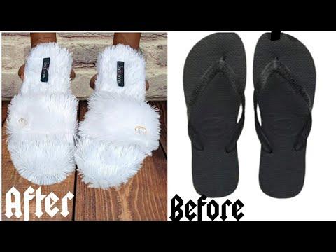 Download DIY indoor slippers from flip flop• Fluffy indoor slippers