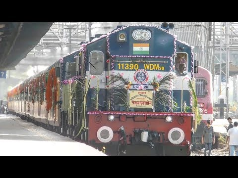 India's 1st Luxurious High Speed Tejas Express Completed 1 Year of Service (BIRTHDAY TRIBUTE)