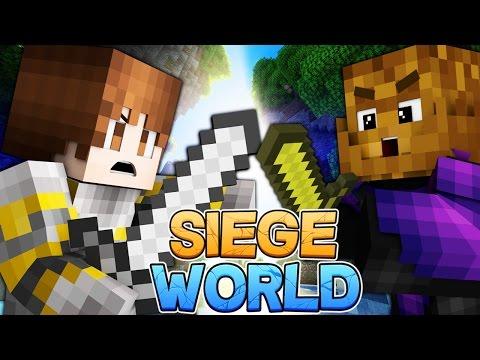 Minecraft: SIEGE WORLD - Light VS Dark S1E1 (Animation, Getting My House, New Resources, Warzone!)