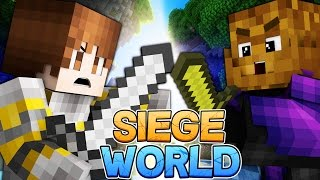 Minecraft: SIEGE WORLD - Light VS Dark S1E1 (Animation, Getting My House, New Resources, Warzone!)