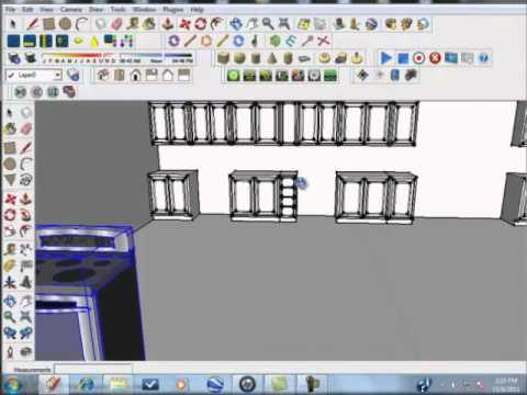 Sketchup Tutorial Kitchen Designs Made Simple And Easy Part 5 Youtube