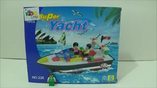Construction Toy Dude: Review #17 Kidoloop Super Yacht