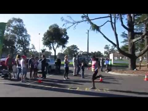Traralgon finish line - Christine - 10km