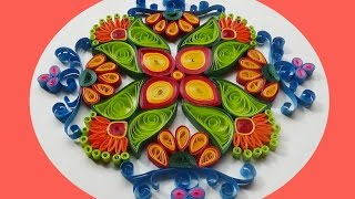 Paper Quilling |  How to make Beautiful rangoli Designs for- diwali -2016
