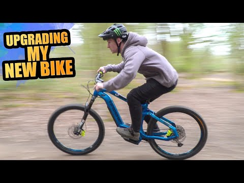 UPGRADING MY NEW BIKE AND SHREDDING MTB TRAILS!