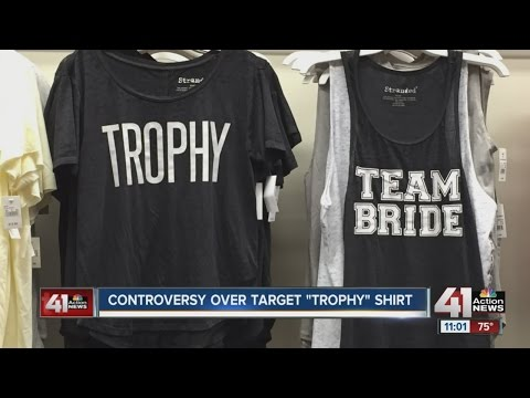Controversy over Target 'Trophy' T-shirt