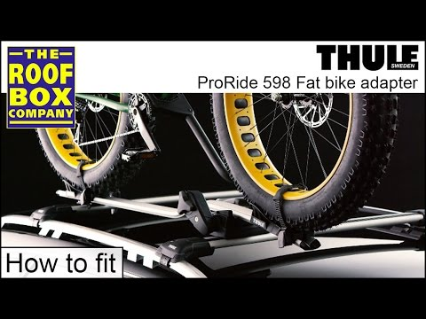 2d132bde476 Thule ProRide 598 Fat Bike Adapter TU5981 - How to fit - YouTube