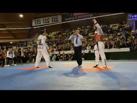 Best Taekwondo fight Aaron Cook VS Sebastian Cris - 80 KG
