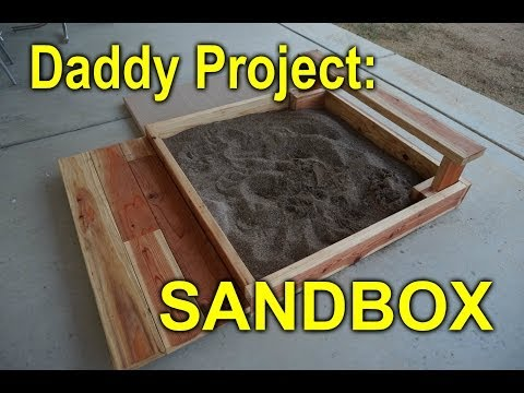 DIY sandbox for my daughter out of 'cull bin' wood