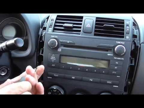 2007-2013 Toyota Corolla How To Remove/change Radio-CD Player Αφαίρεση CD Player Yiannis Pagonis