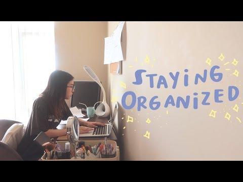 How I'm Staying Organized! (a Uni Vlog)