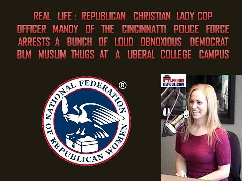 Republican Christian Lady Cop: Officer Mandy VS Democrat Leftist Thugs!