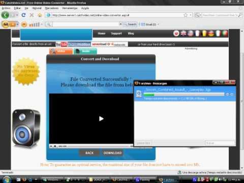 Como Descargar Videos de cualquier pagina web sin instalar nada! y en tu formato favorito!