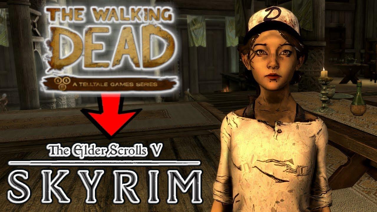 Clementine Follower Mod in Skyrim (Xbox One/PC)