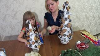 видео Как сделать елку из сизаля