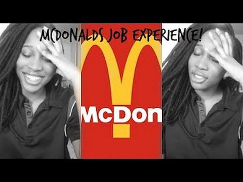 Working At Mcdonalds | Job Interview | Diane Chante