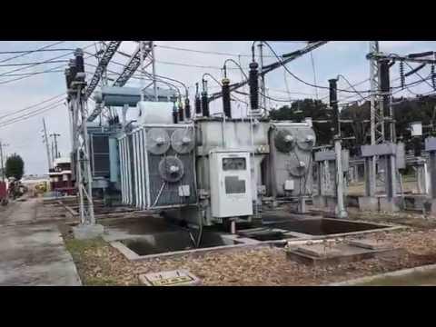Electrical Substation visit. Inside an Electrical Substation.