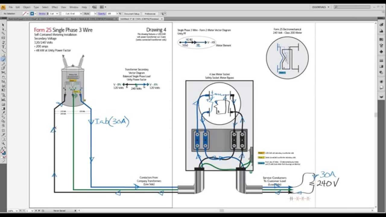 small resolution of metergod monday part 1 proving load on a 2s meter on single phase 3 wire service
