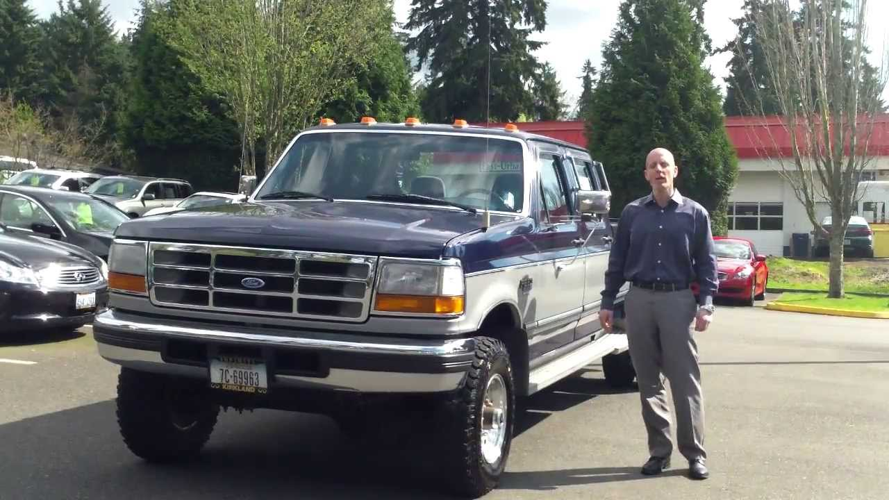 1995 ford f350 power stroke diesel crew cab dually 4x4 review start up and exhaust youtube