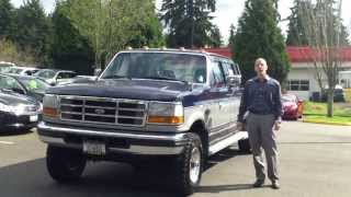 1995 Ford F350 Power Stroke Diesel Crew Cab Dually 4x4 review, start up and exhaust