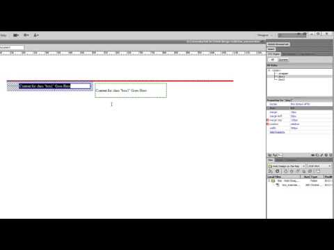 DreamWeaver Tutorial For Basic DIV CSS Float Attribute Concepts (Part 2 Of 4)