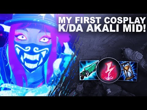 MY FIRST COSPLAY?! K/DA AKALI MID! SHE'S REALLY FUN! | League Of Legends