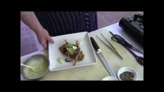 Soft Shell Crab With Corn Maque Choux ~ Recipe Thyme At The Carolina Inn ~ Chapel Hill, Nc