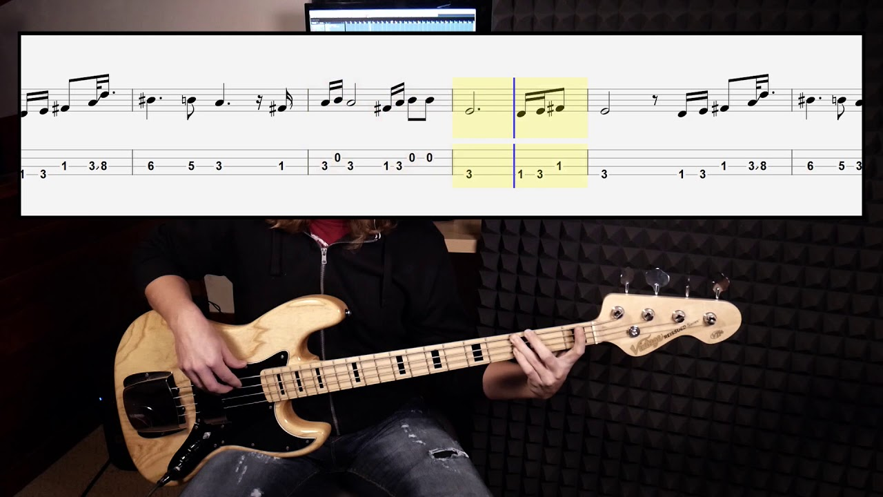 Arctic Monkeys   Do I Wanna Know bass cover with tabs in video