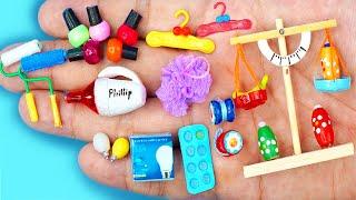 24 EASY REALISTIC DIY MINIATURE BARBIE IDEAS ~ Mini nails polish, cloth hanger, vacuum and more!