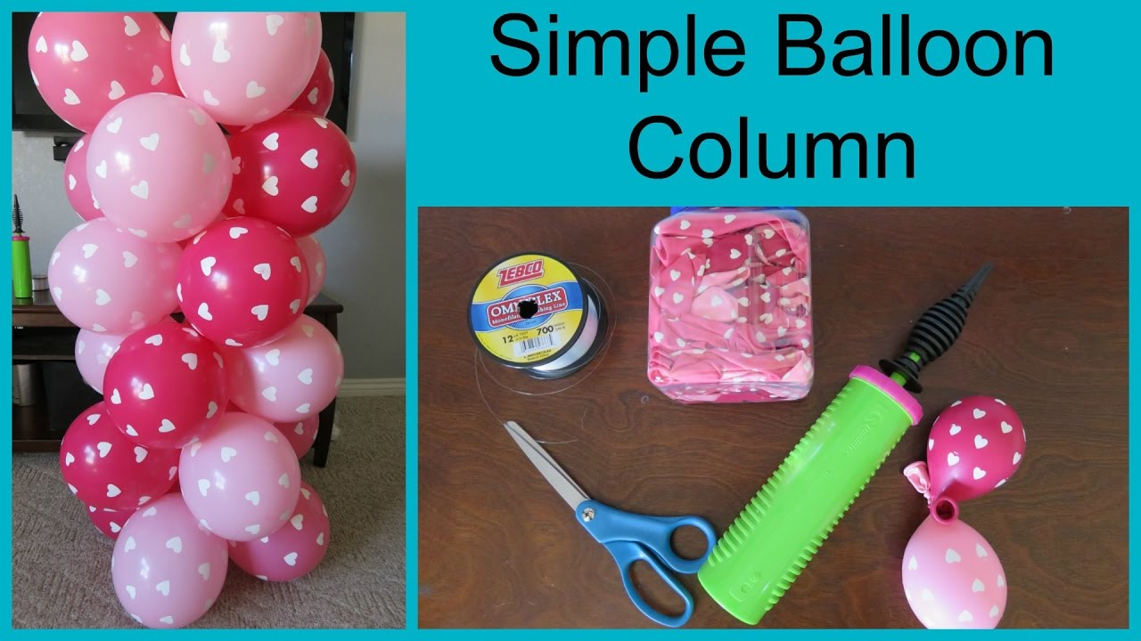 how to make a simple balloon column youtube