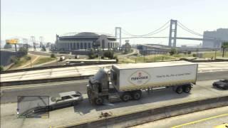 GTA 5 TRAILER TRUCK TERROR HIGH WAY