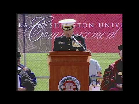 General James N. Mattis speaks at CWU Commencement
