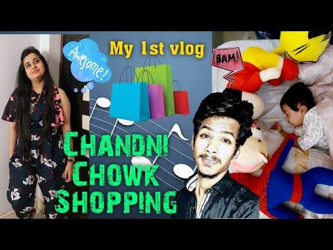 Ish vlogging 1st time | Chandni Chowk Shopping | Function ki Taiyari | Ft. Isha Aashish Mittal