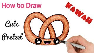 How to Draw a Pretzel cute and easy