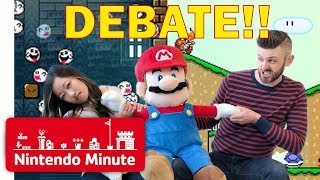 Preparing for Super Mario Maker 2 Debate! Platforming vs. Puzzles - Nintendo Minute