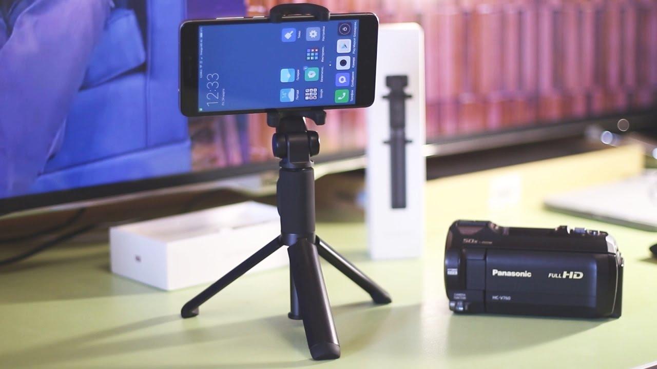 Штатив трипод для фотоаппарата и телефона / Распаковка + обзор .
