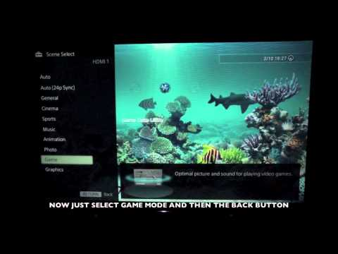 How to enable game mode on Sony's 2013 Bravia HDTV's W905, W805, W6 and X9 Series