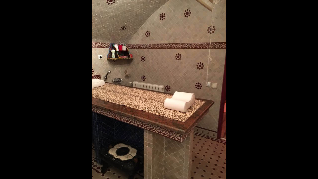 bathroom coating and hammam with moroccan zellige paris 2017 youtube. Black Bedroom Furniture Sets. Home Design Ideas