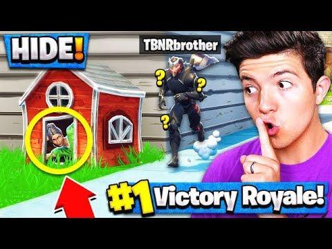 *NEW* HIDE & SEEK Custom Gamemode (Fortnite Battle Royale) with Little Brother!