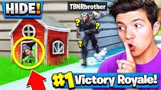 *NEW* HIDE & SEEK Custom Gamemode (Fortnite Battle Royale) with Little Brother!