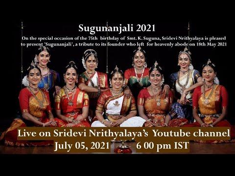 SDN Sabha - Sugunanjali 2021 - Sridevi Nrithyalaya - Bharathanatyam Dance