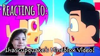 Reacting To Ihascupquake 39 s Mineblox Minecraft vs roblox animation
