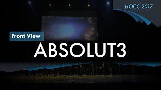 Hall 3 ABSOLUT3 | HOCC 2016/2017 Front row