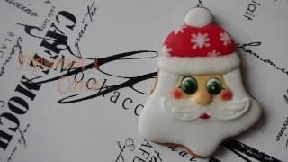 Пряник голова Санты /Santa's head gingerbread