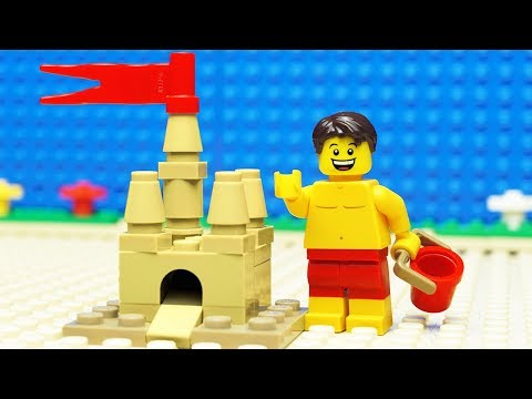 Lego Build A Sand Castle - At The Beach