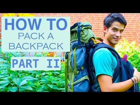 How to pack a backpack? Packing Hacks!