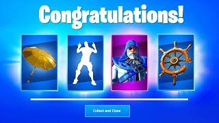 FORTNITE SEASON 8 FREE ITEMS - NEW Bundle Pack, Golden Umbrella, Emotes and Pickaxe from Battlepass