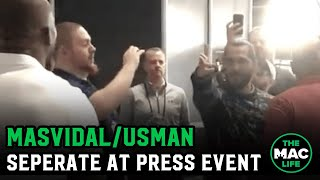 Jorge Masvidal and Kamaru Usman separated in altercation at press event