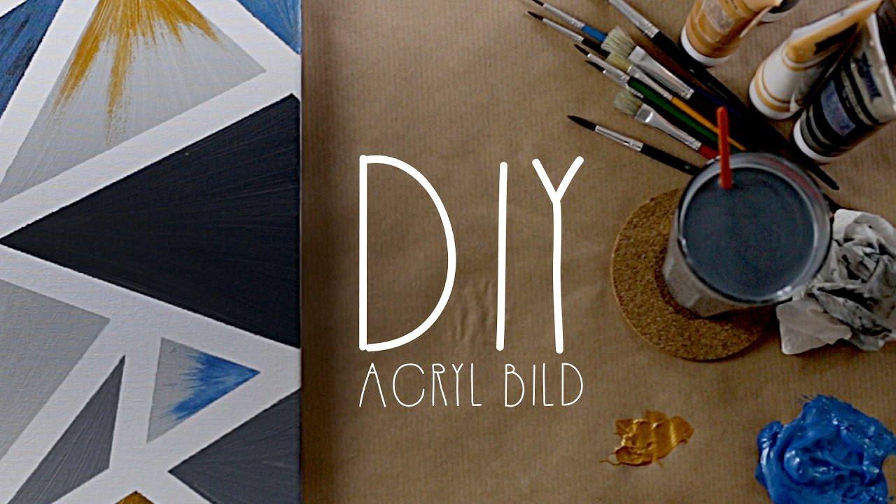 diy kreatives acryl bild selbst gestalten unartig youtube. Black Bedroom Furniture Sets. Home Design Ideas