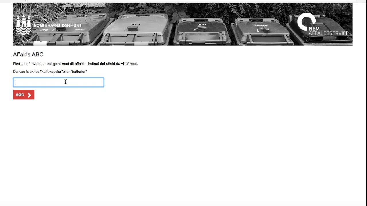 Affaldsservice guide til affaldsabc - youtube